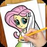 Learn to Draw Equestria Girls app apk icon