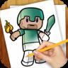 Learn to Draw Minecraft app apk icon