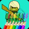 Ninja Coloring Book for Kids app apk icon