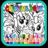 Little Pony Princess Paint Kid app apk icon